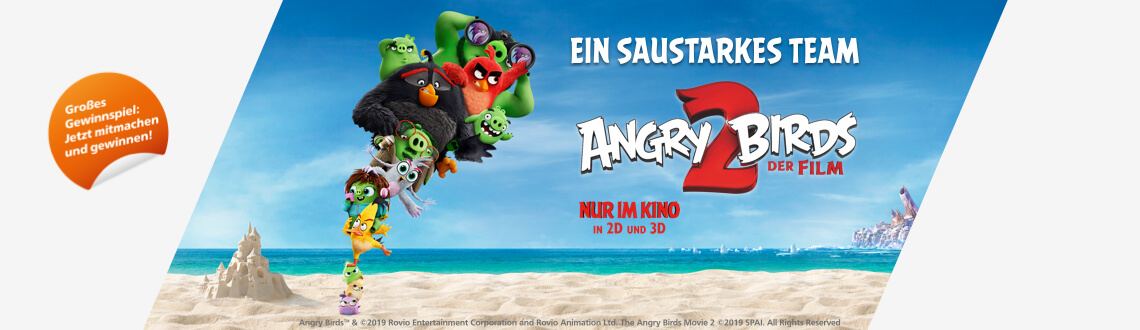 Angry Birds 2 – Der Film Online-Gewinnspiel